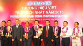 Vinh danh 35 doanh nghiệp có thương hiệu Việt được yêu thích nhất 2015