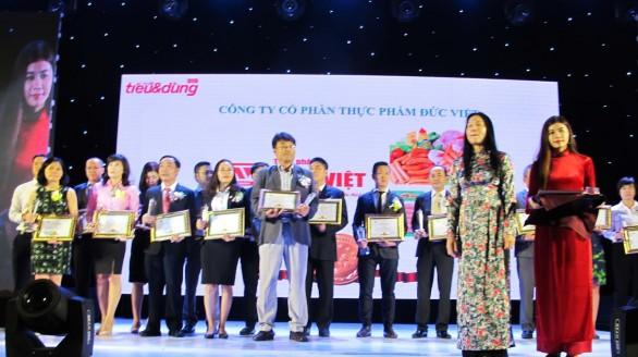 Thực phẩm Đức Việt đạt Top 100 Thương hiệu sản phẩm – Dịch vụ Tin & Dùng Việt Nam 2016