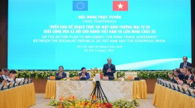 Thủ tướng chủ trì Hội nghị trực tuyến về Triển khai kế hoạch thực thi Hiệp định EVFTA