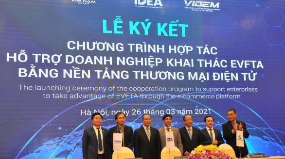 Ra mắt chương trình hợp tác hỗ trợ doanh nghiệp khai thác EVFTA bằng nền tảng thương mại điện tử