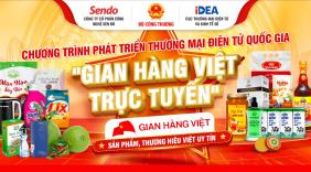 """""""Gian hàng Việt trực tuyến Quốc gia"""" – Tiếp cận thị trường 63 tỉnh thành phố"""