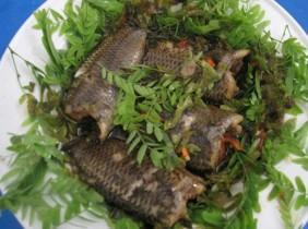 Cá rô mề kho rau răm Châu Đốc, món ngon không thể bỏ qua