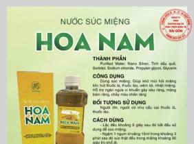 Nước súc miệng Hoa Nam Đạt Danh Hiệu 'Top 100- Sản phẩm, dịch vụ tốt nhất cho gia đình'