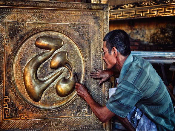 Làng nghề chạm bạc ở Đồng Xâm