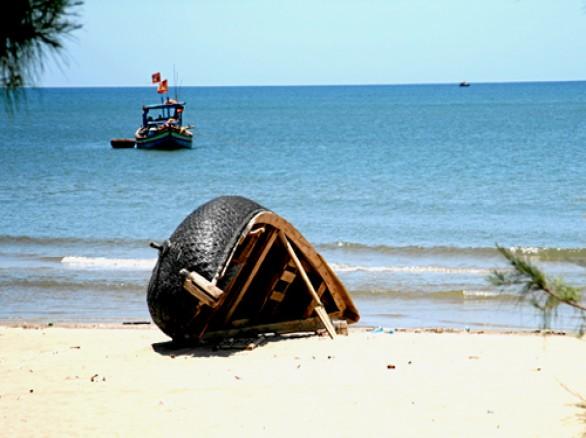 Yên bình trên bãi biển Hái Thanh