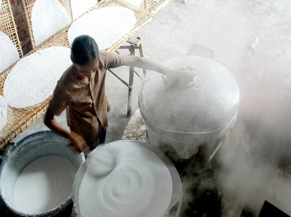 Làng nghề bánh tráng Thuận Hưng