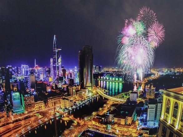 Toàn cảnh Thành phố Hồ Chí Minh về đêm